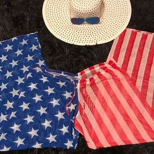 Other - Ladies Star Spangled Swimsuit Cover Up